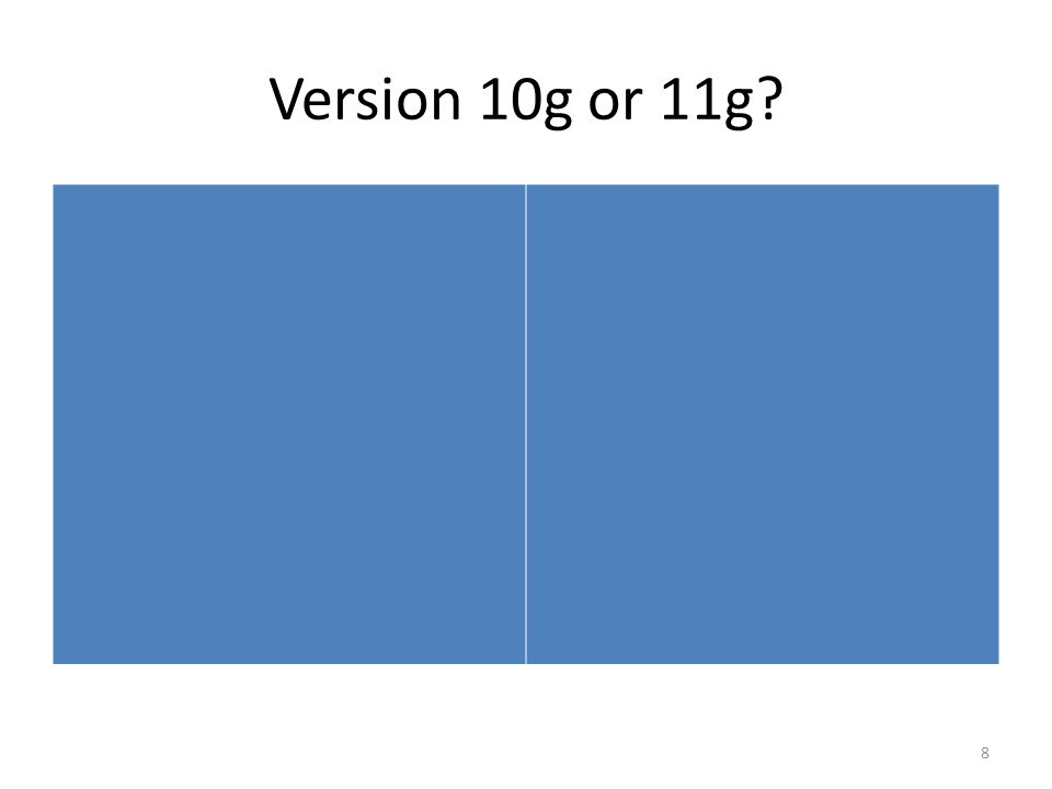 Version 10g or 11g 8
