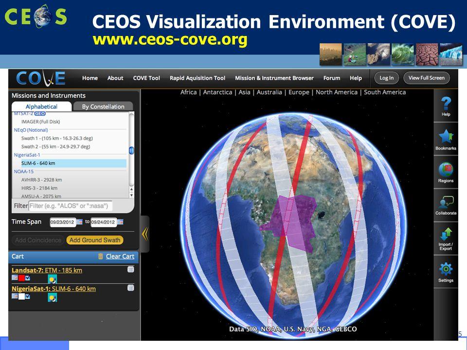CEOS Visualization Environment (COVE) 5 www.ceos-cove.org