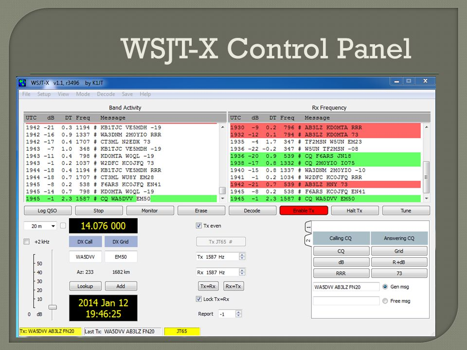 WSJT-X Control Panel