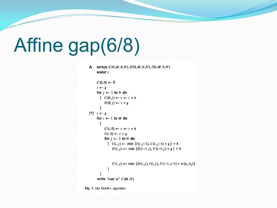 Affine gap(6/8)