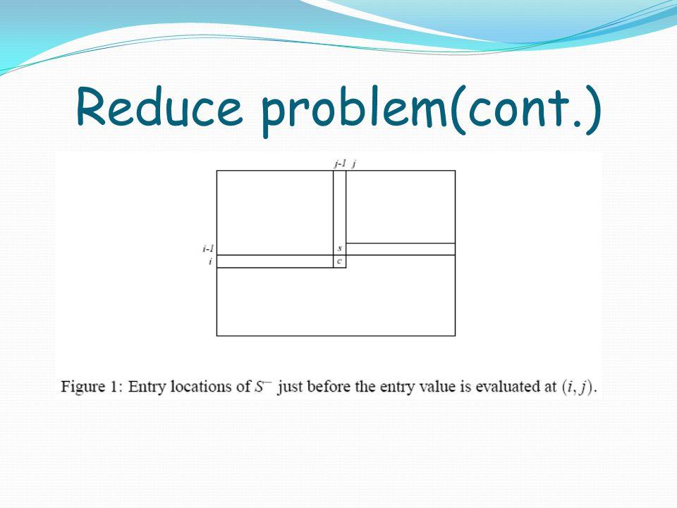 Reduce problem(cont.)