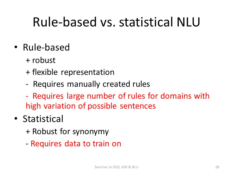 Rule-based vs.