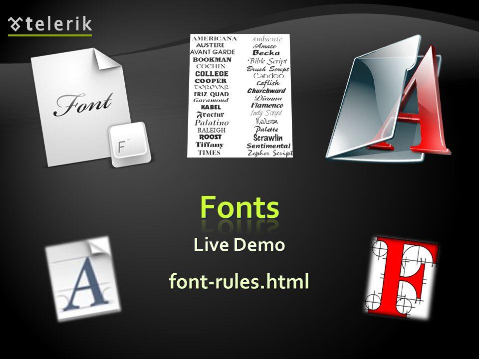 Live Demo font-rules.html