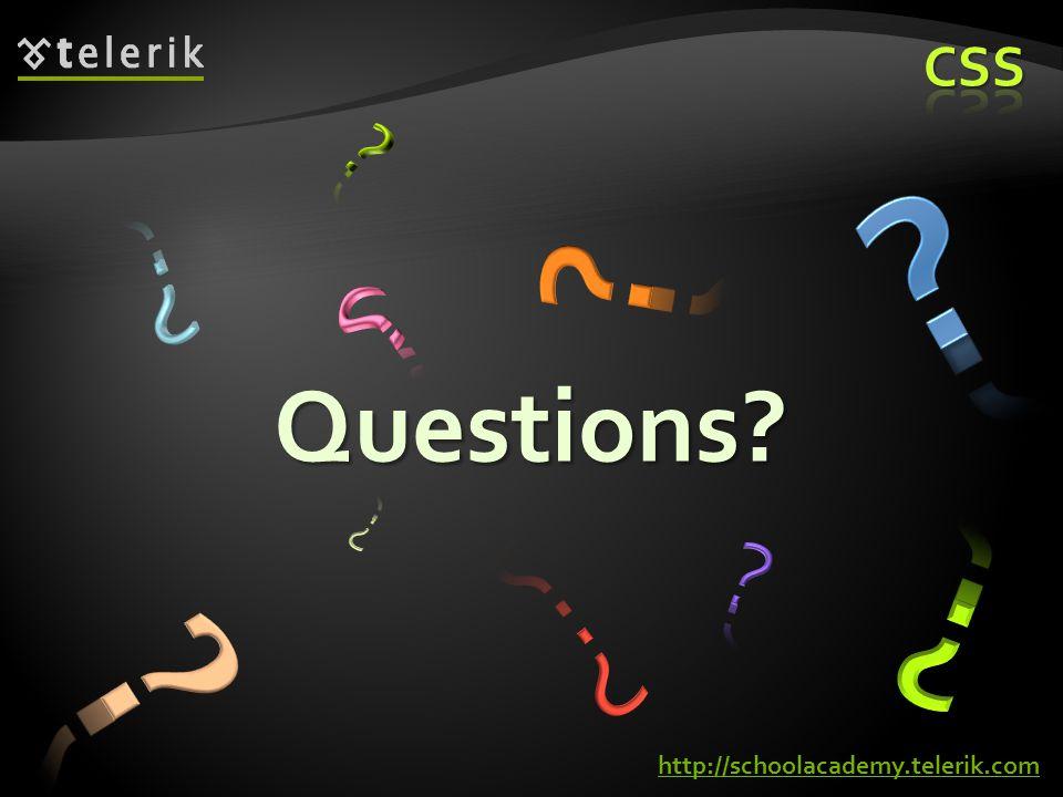 Questions http://schoolacademy.telerik.com