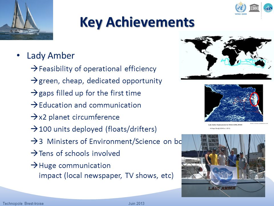 Technopole Brest-IroiseJuin 2013 Lady Amber  Feasibility of operational efficiency  green, cheap, dedicated opportunity  gaps filled up for the fir