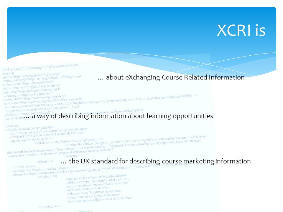 Implementing XCRI-CAP Myerscough College