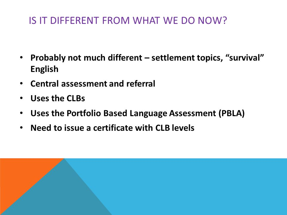 PBLA When will Portfolio-Based Language Assessment be implemented in Manitoba.