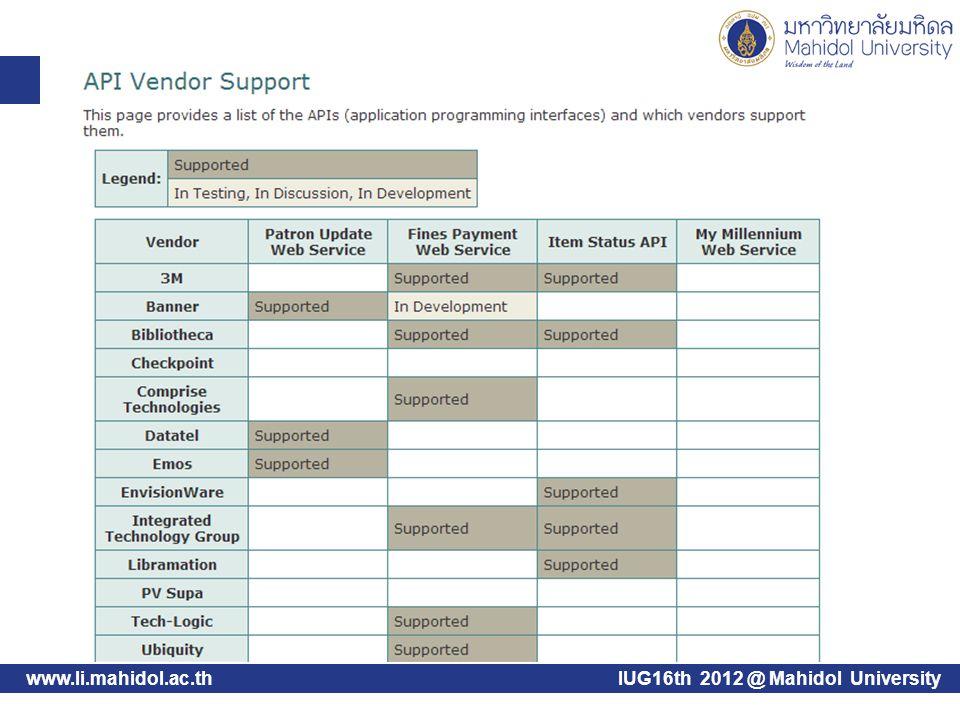 www.li.mahidol.ac.thIUG16th 2012 @ Mahidol University