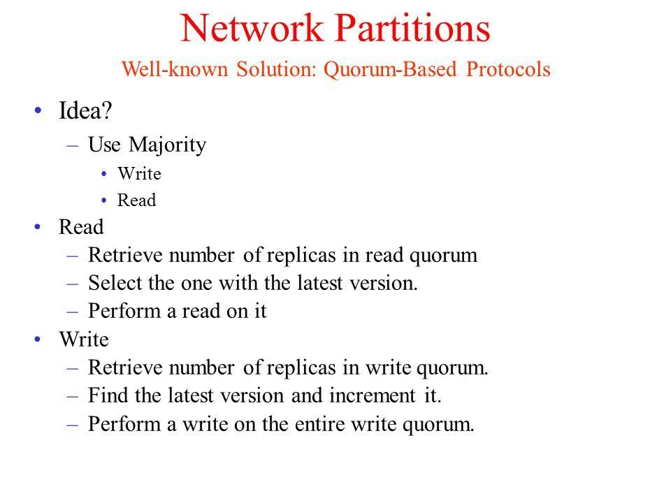 Network Partitions Idea.
