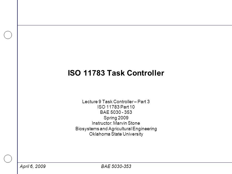 Relationship among XML elements - Task April 6, 2009BAE 5030-353