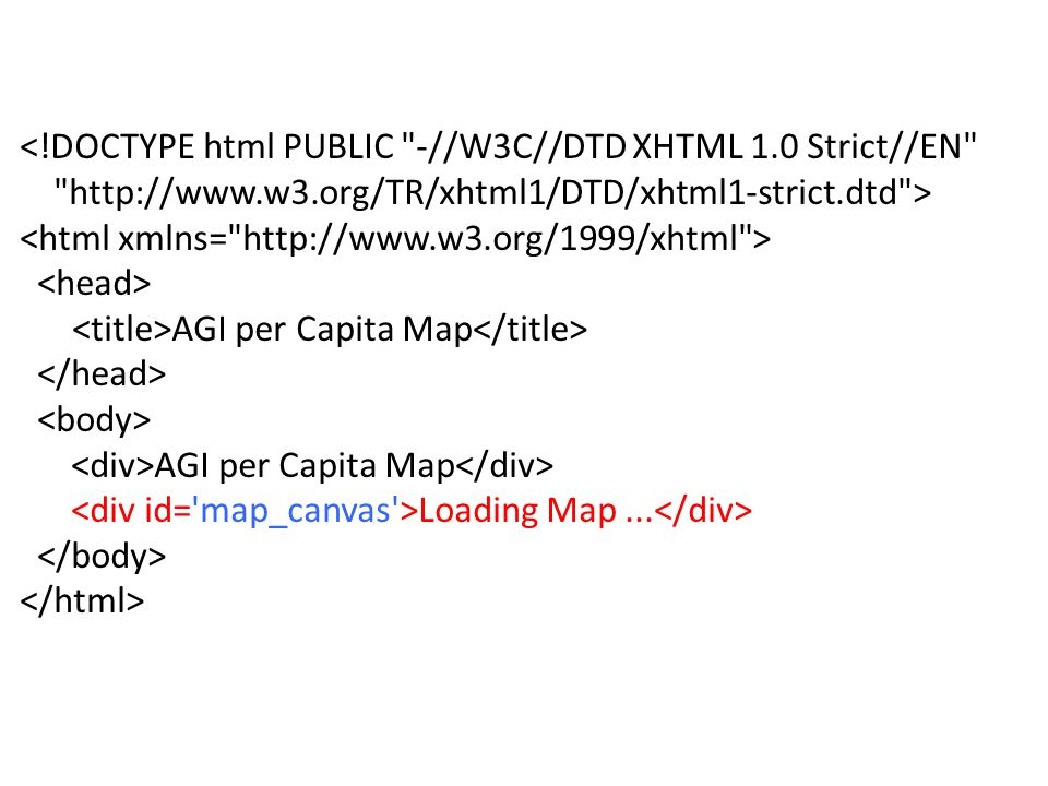 <!DOCTYPE html PUBLIC -//W3C//DTD XHTML 1.0 Strict//EN http://www.w3.org/TR/xhtml1/DTD/xhtml1-strict.dtd > AGI per Capita Map AGI per Capita Map Loading Map...
