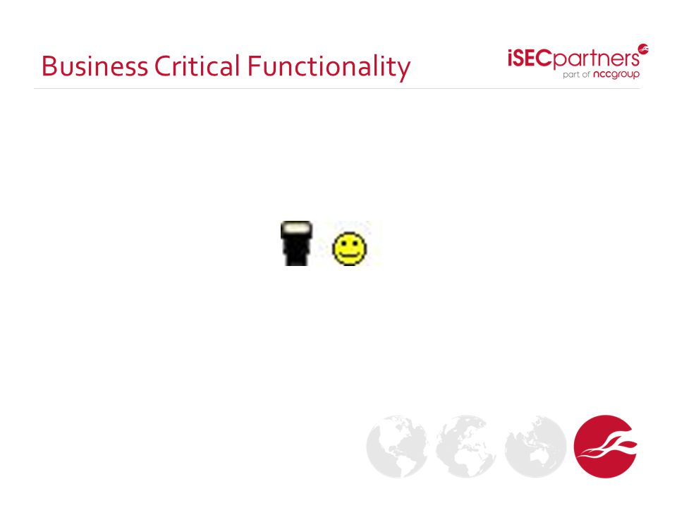 Business Critical Functionality