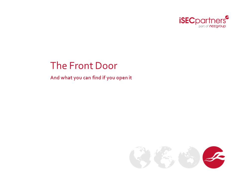 The Front Door And what you can find if you open it