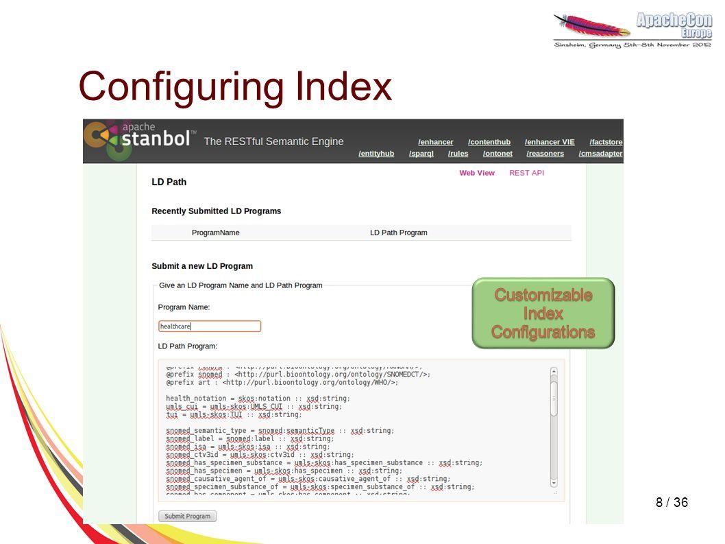 Configuring Index 8 / 36