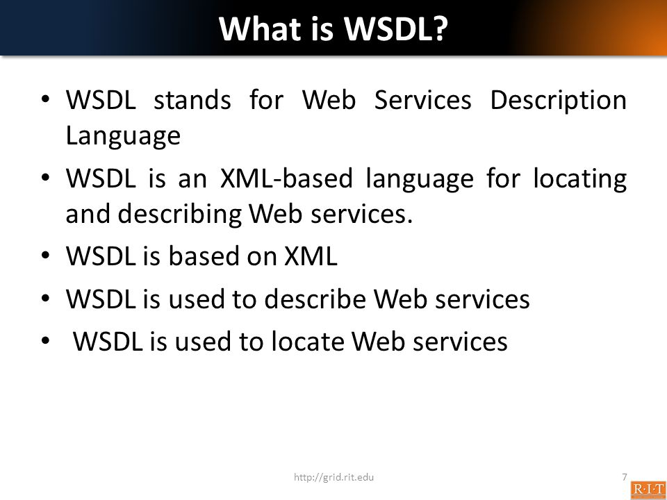 What is WSDL.
