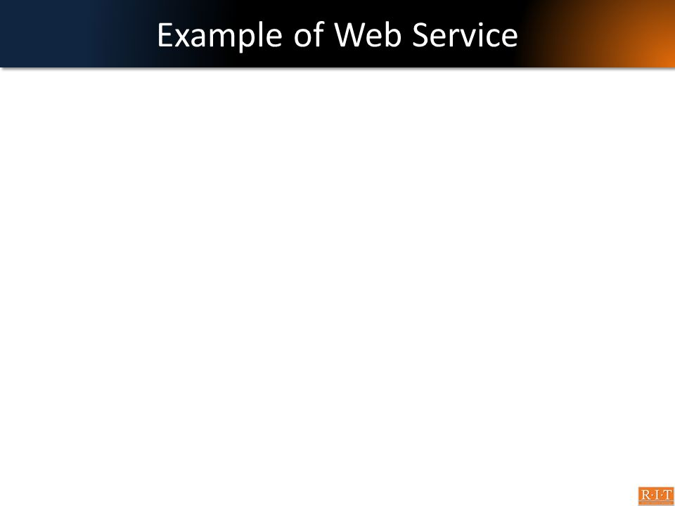 Example of Web Service