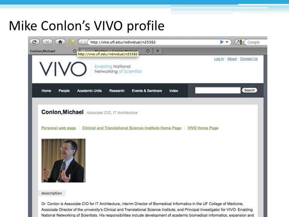 Mike Conlon's VIVO profile