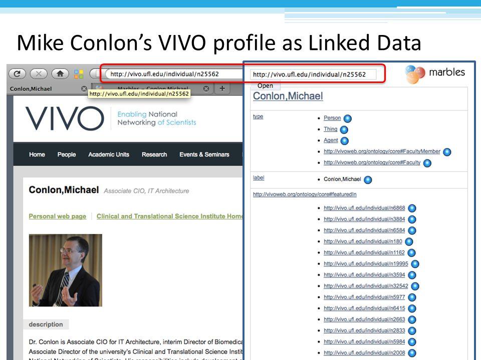 Mike Conlon's VIVO profile as Linked Data