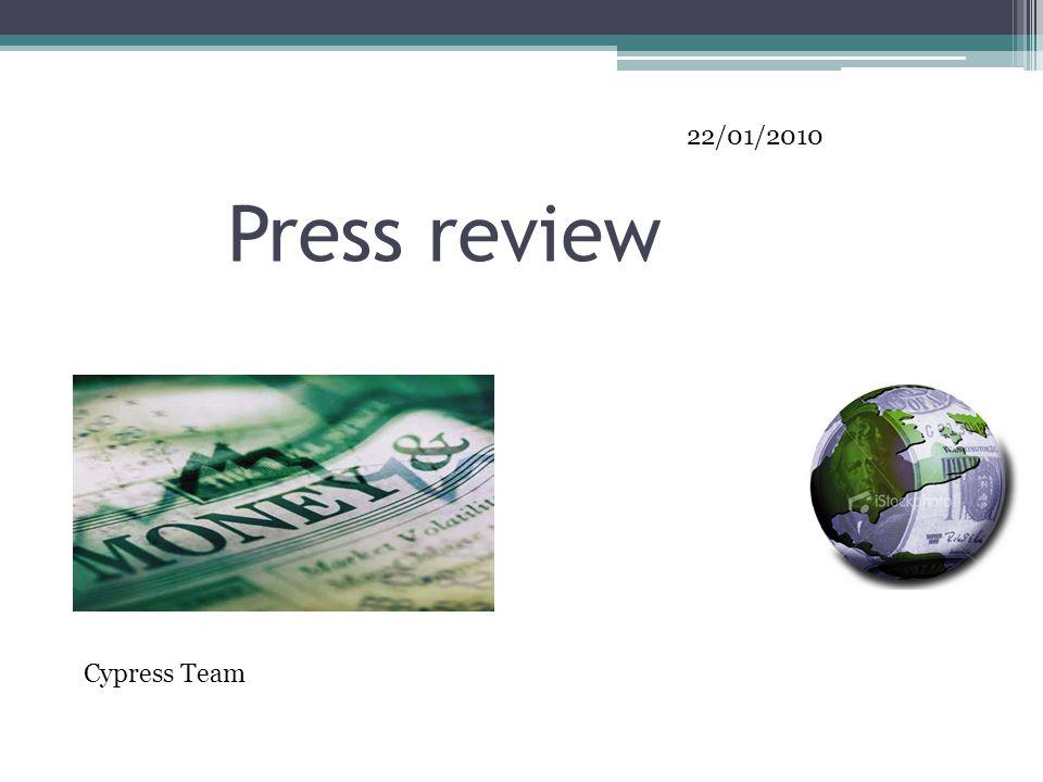 Press review Cypress Team 22/01/2010