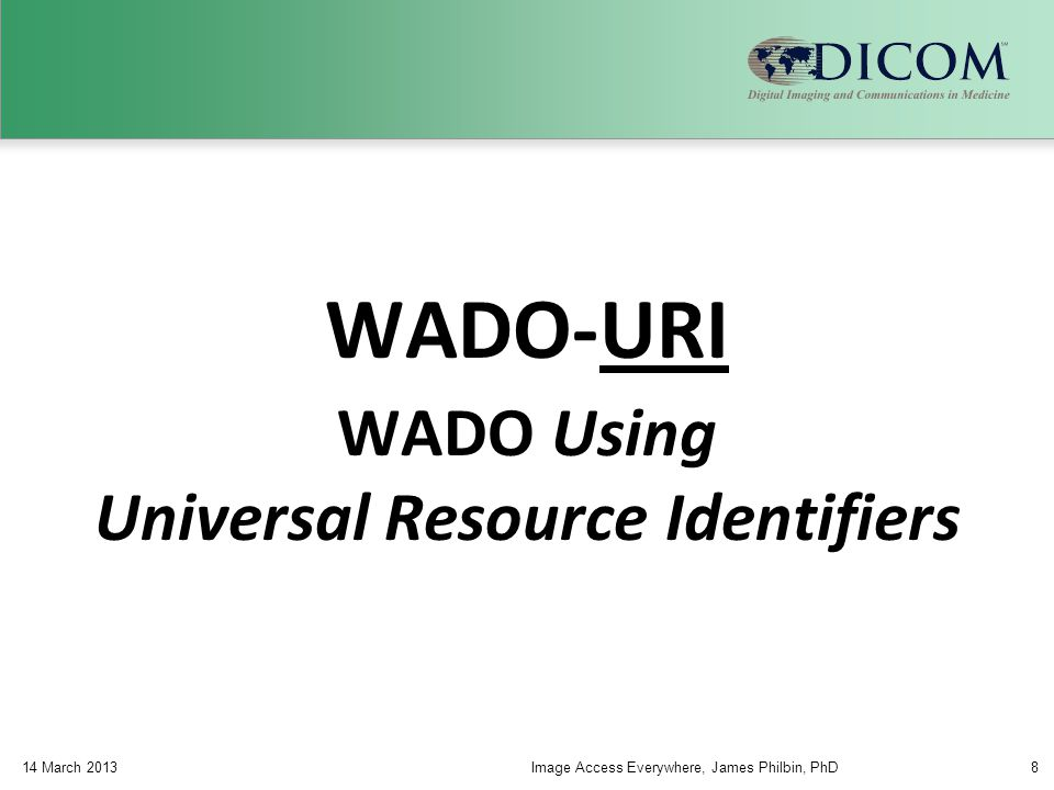 Site 2 Site 1 Use Case – Remote Access QIDO WADO STOW Client PACS Proxy C-FIND C-MOVE C-STORE QIDO WADO STOW Proxy 14 March 2013Image Access Everywhere, James Philbin, PhD39