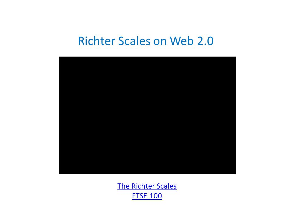 Richter Scales on Web 2.0 The Richter Scales FTSE 100