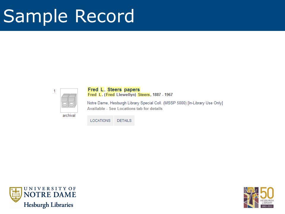 Sample Record