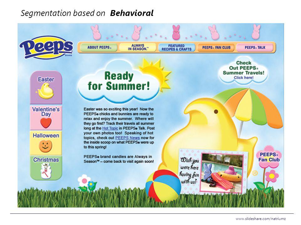 www.slideshare.com/natriumz Segmentation based on Behavioral