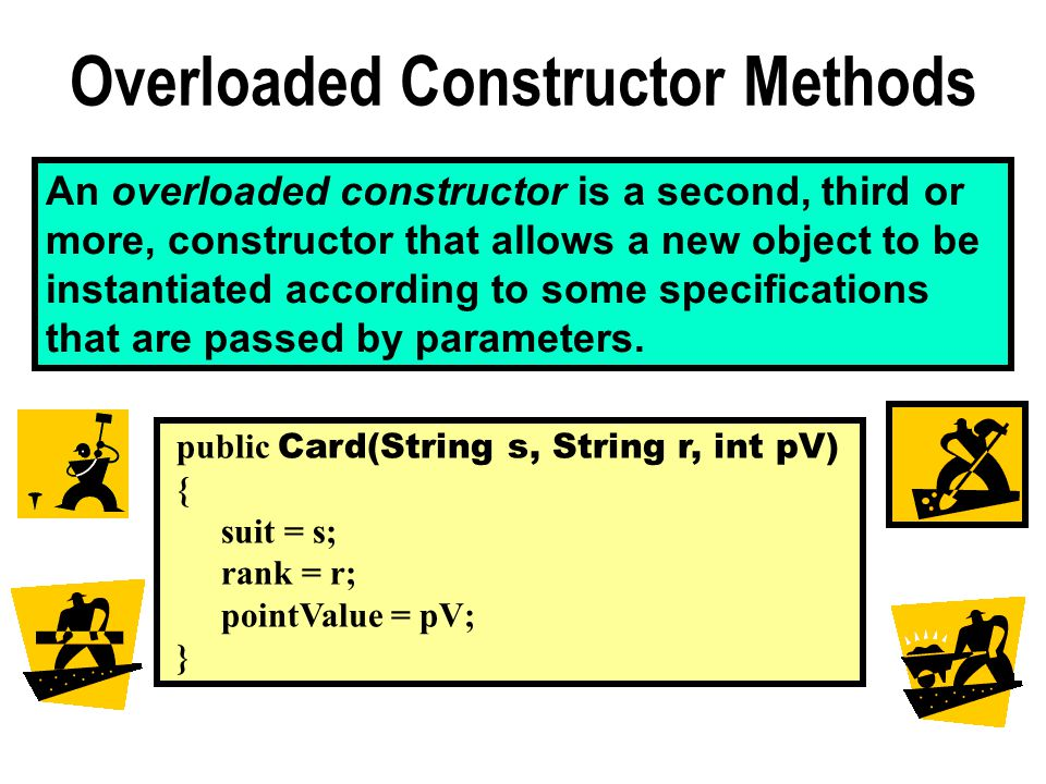 An overloaded constructor is a second, third or more, constructor that allows a new object to be instantiated according to some specifications that are passed by parameters.