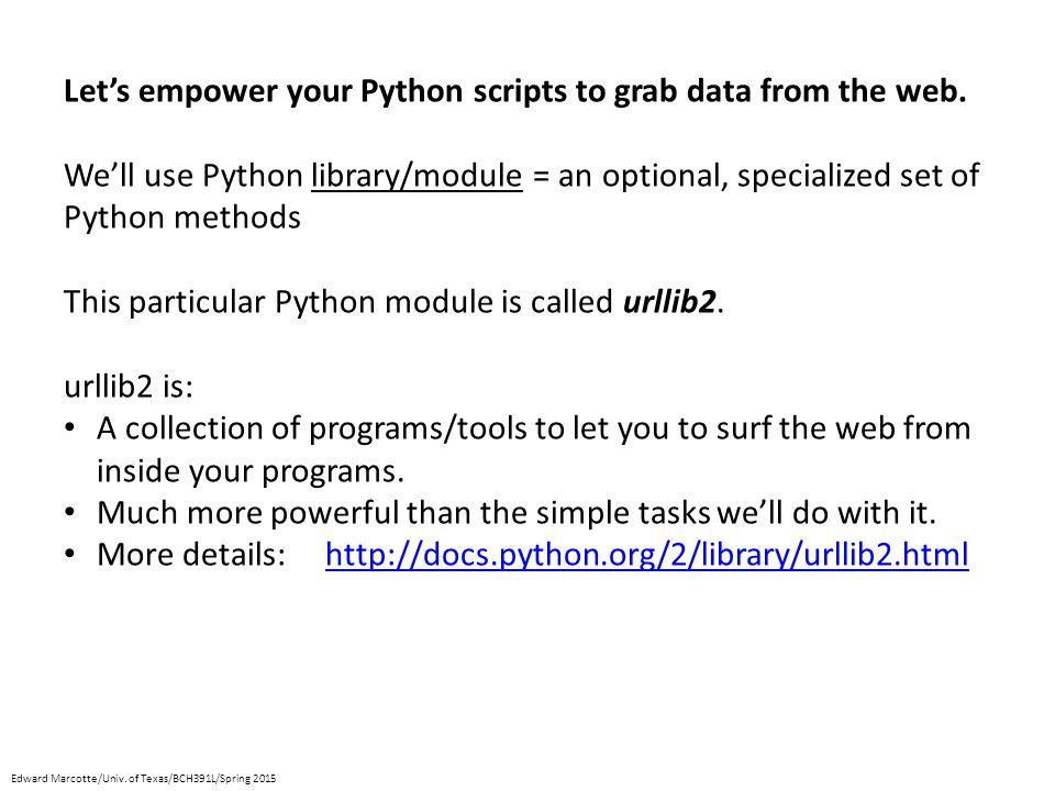 Let's empower your Python scripts to grab data from the web.