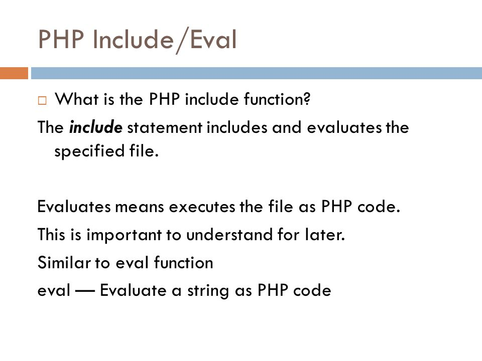 What now. So, we can execute local files as php code, what can this get us.