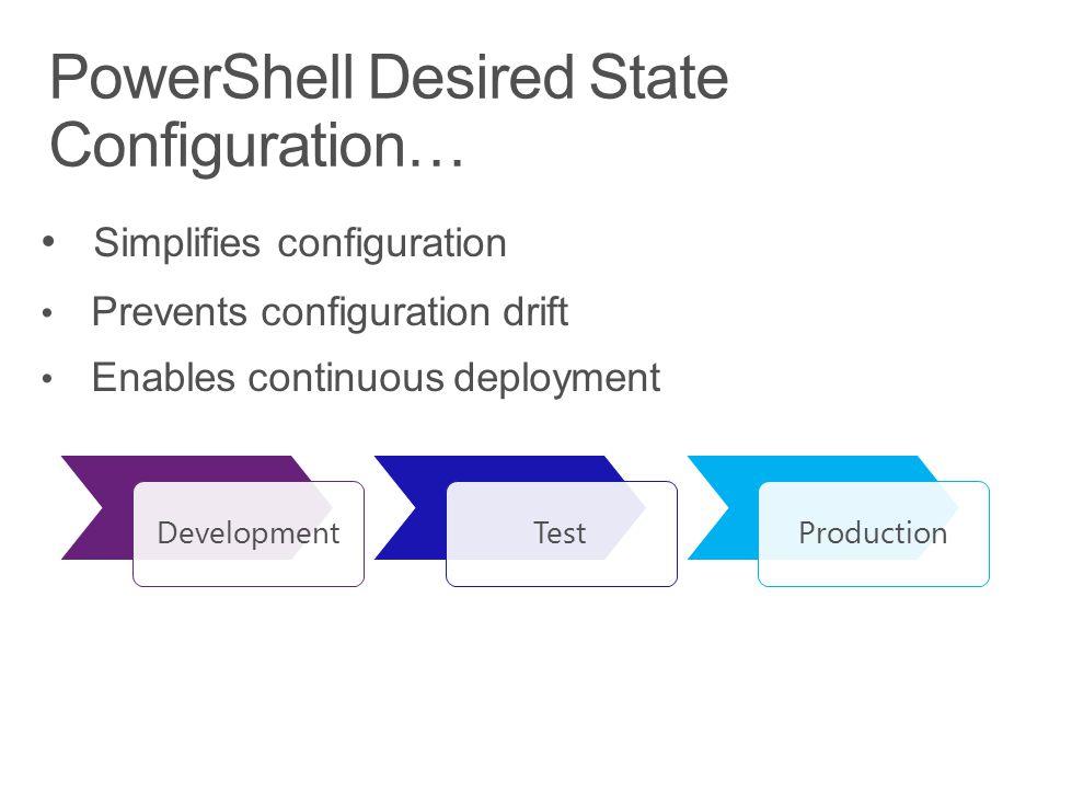 DevelopmentTestProduction