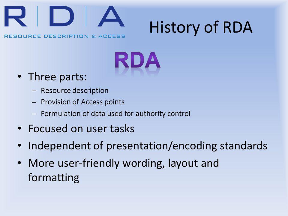 FRBR/FRAD/FRSAD MARCISBD RDA International Cataloguing Principles Metadata standards Advances in Web Development International Context