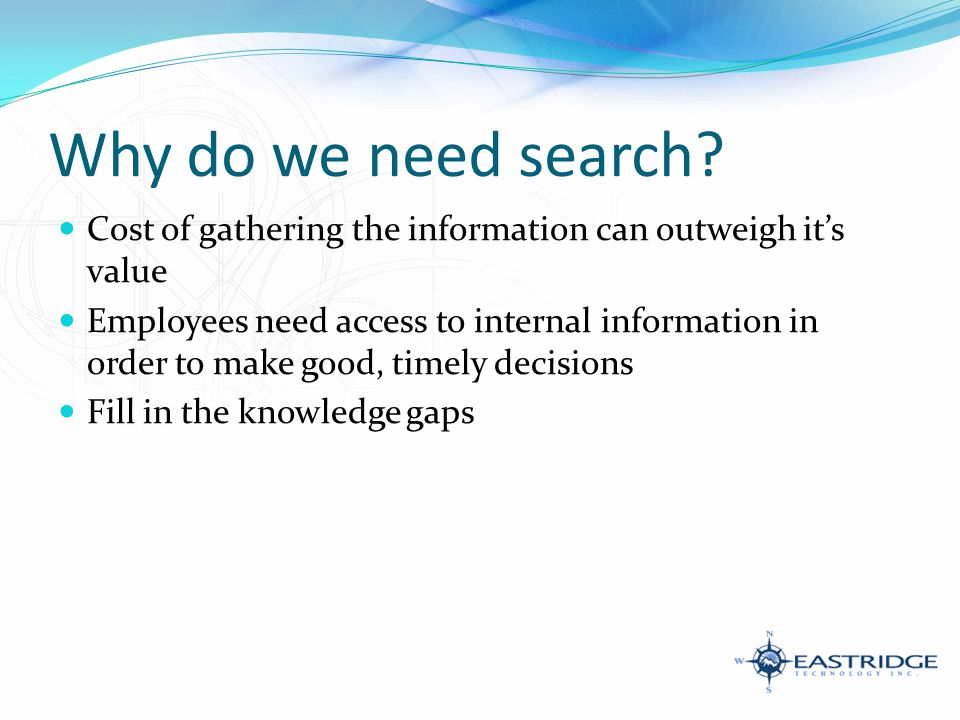 How do we search?