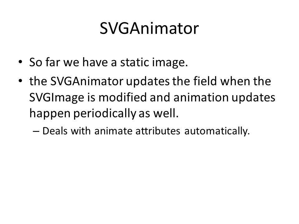 SVGAnimator So far we have a static image.