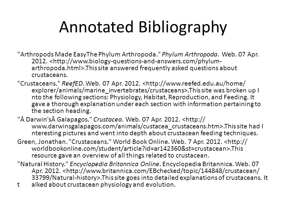 Annotated Bibliography Arthropods Made EasyThe Phylum Arthropoda. Phylum Arthropoda.