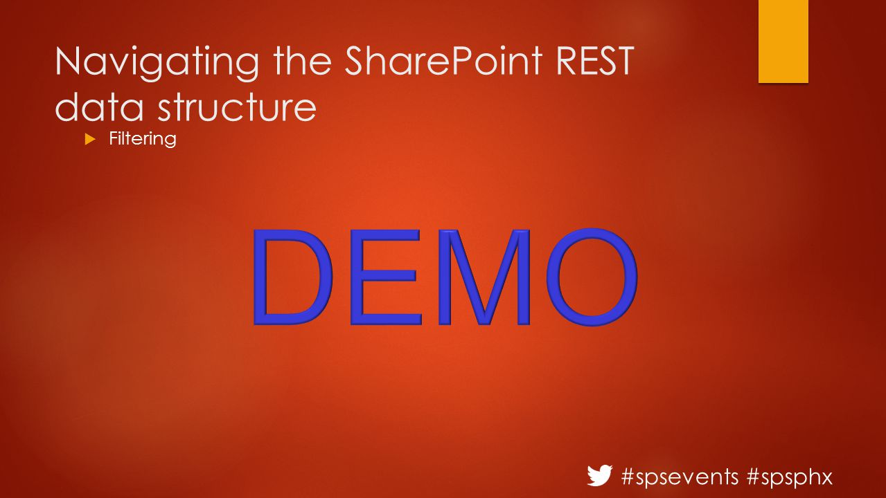 #spsevents #spsphx Navigating the SharePoint REST data structure  Filtering