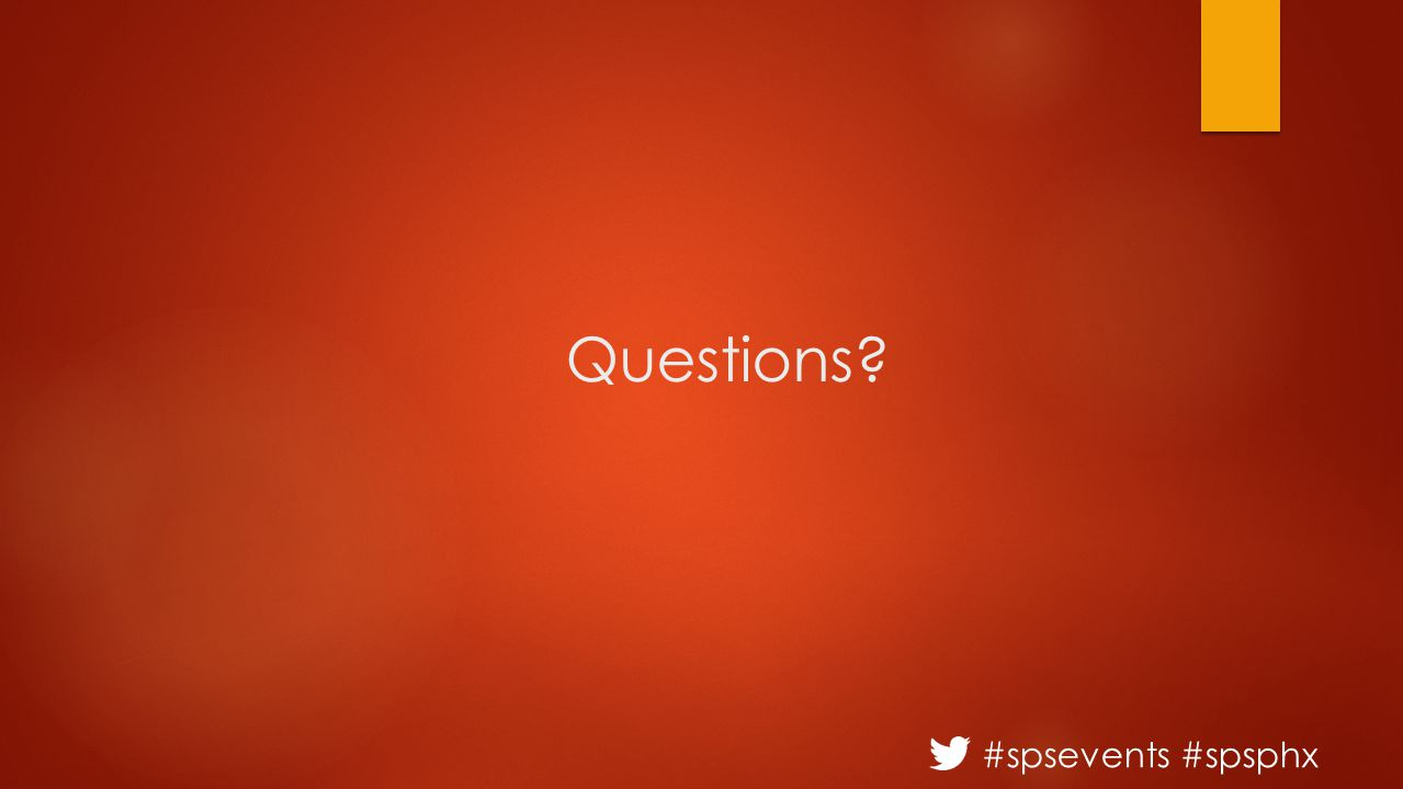 #spsevents #spsphx Questions