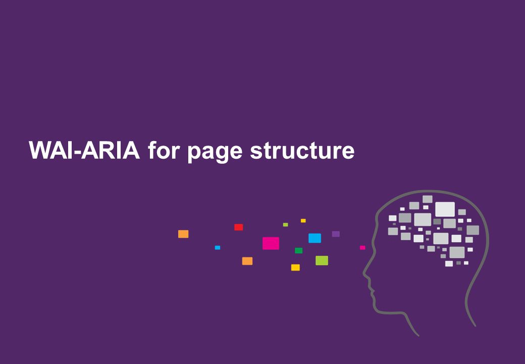 WAI-ARIA for page structure