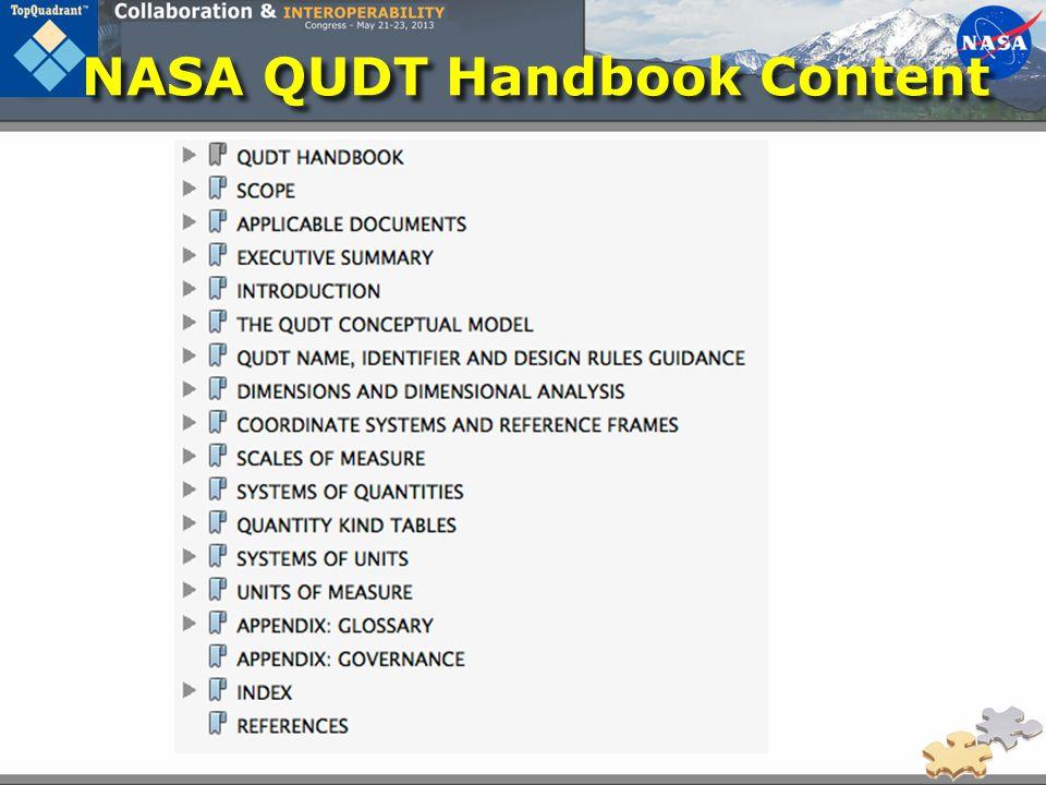 NASA QUDT Handbook Content