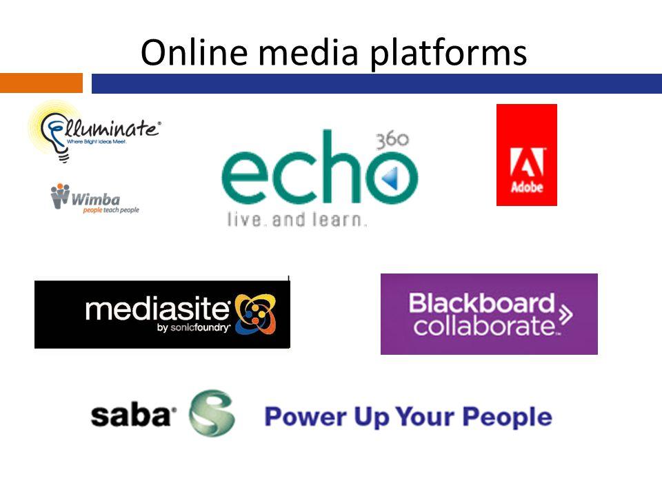 Online media platforms