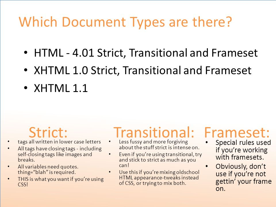 Which Document Types are there.