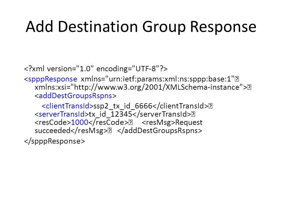 Add Route Group … RTE_GRP_SSP2_1 … u E2U+sip ^(.*)$ sip:\1@sbe3.ssp2.com …. DEST_GRP_SSP2_1 true
