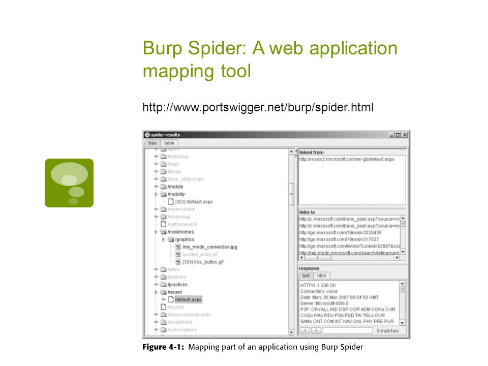 Burp Spider: A web application mapping tool http://www.portswigger.net/burp/spider.html