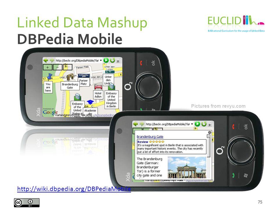 Linked Data Mashup 75 DBPedia Mobile Pictures from revyu.com http://wiki.dbpedia.org/DBPediaMobile