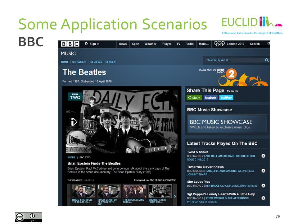 Some Application Scenarios 78 BBC