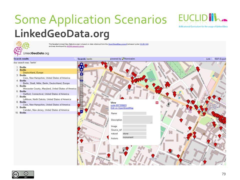 Some Application Scenarios 79 LinkedGeoData.org