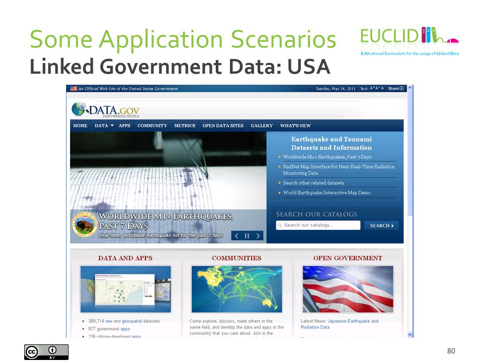 Some Application Scenarios 80 Linked Government Data: USA