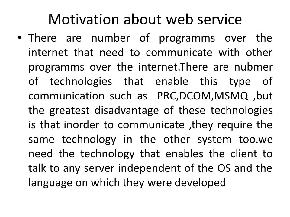 UDDI((Universal Description, Discovery and Integration) Like any other resource on the web it would be virtually impossible to find a particular web servi.ce without some means to search it.Web services directories provide central locations where web servce providers can publish information about web service,such directories can be accessed driecly or progammaticallay.