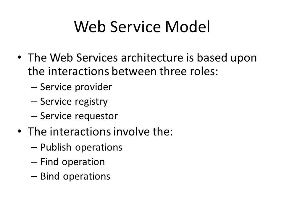WSDL WSDL stands for Web Services Description Language.