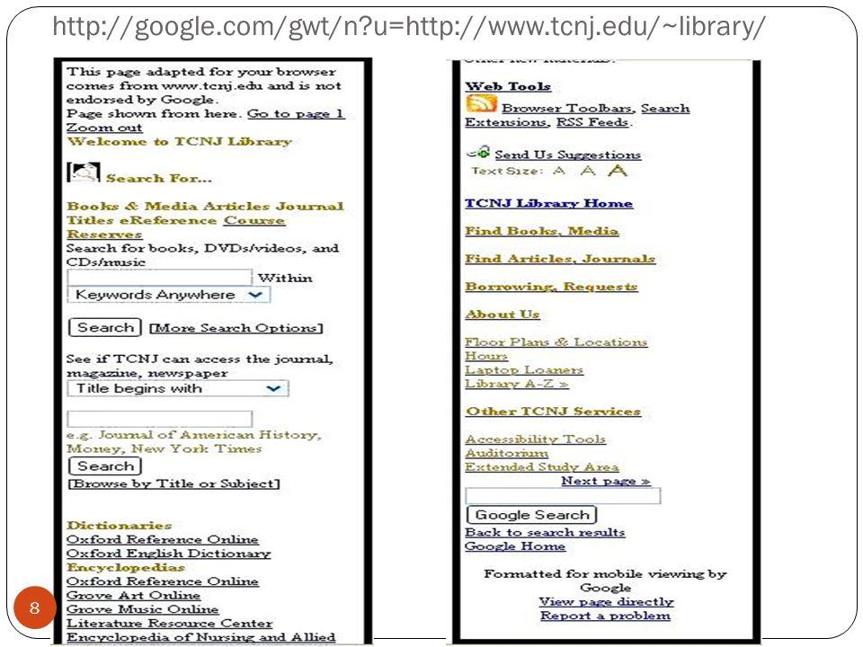 http://google.com/gwt/n u=http://www.tcnj.edu/~library/ 8